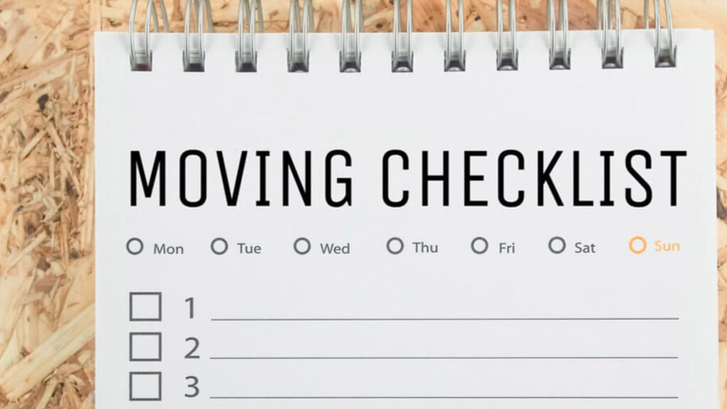 What you need to write down on a Moving Checklist